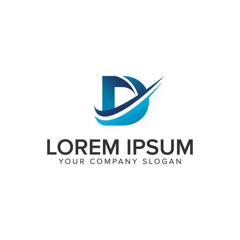 Cative moderner Buchstabe D Logo-Design-Konzept-Vorlage. vollständig bearbeiten vektor