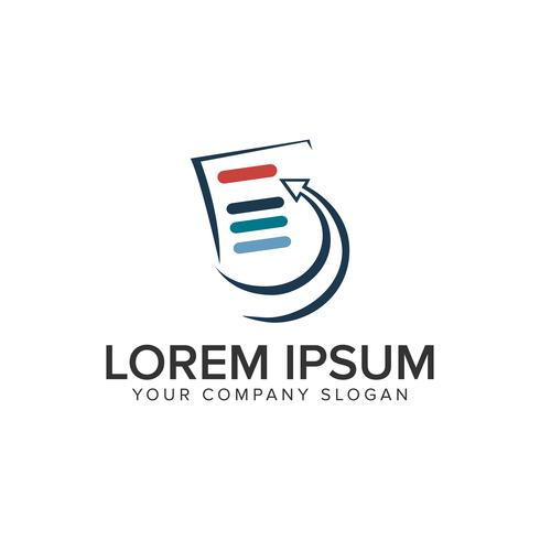 Liste Dokument Logo-Design-Konzept-Vorlage. voll editierbares vecto vektor