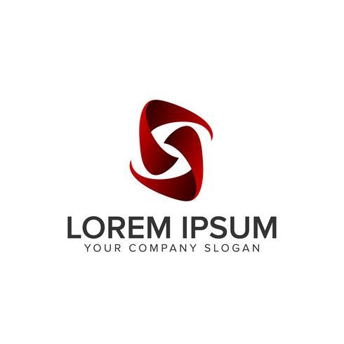 brev S moderna logotypen vektor