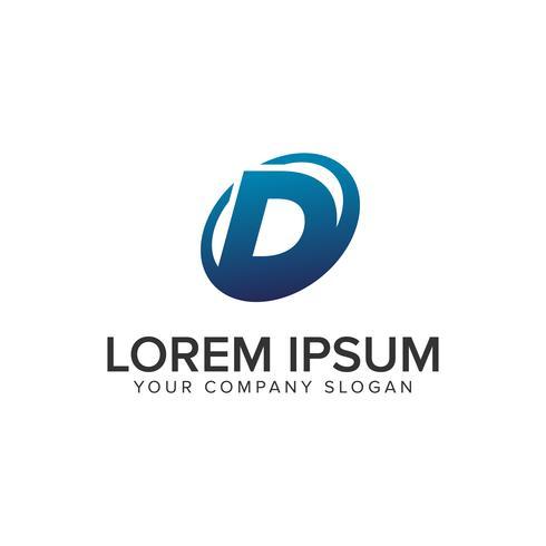 Creative modern letter D Logo designkoncept mall. fullständigt redigerad vektor