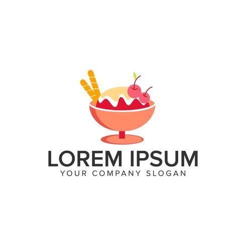 Eiscreme-Logo-Design-Konzept-Vorlage. vektor