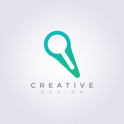 Logo Design Vektor Symbol Förstora Ikon