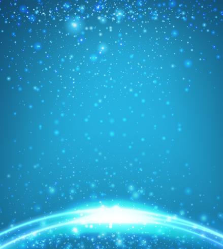 Bakgrundsmall med blått ljus vektor
