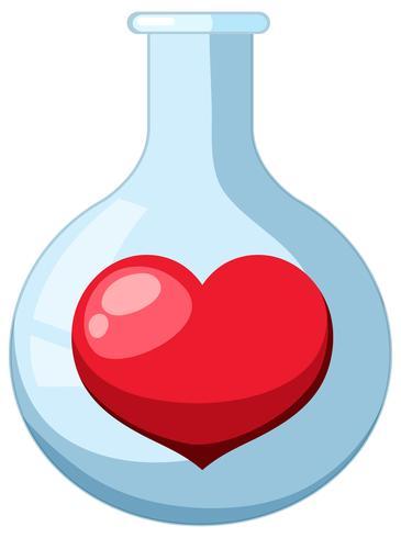 Ein Reagenzglas für die Chemie vektor