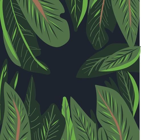 Hand gezeichnete Aquarell Tropisches Blatt Vektor