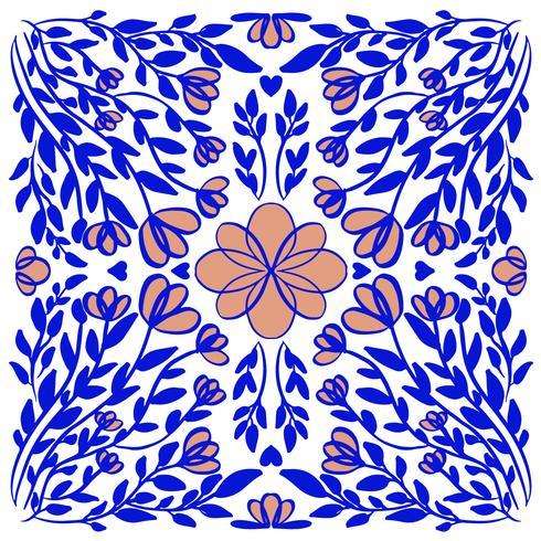 abstrakt illustration konsistens mandala vektor