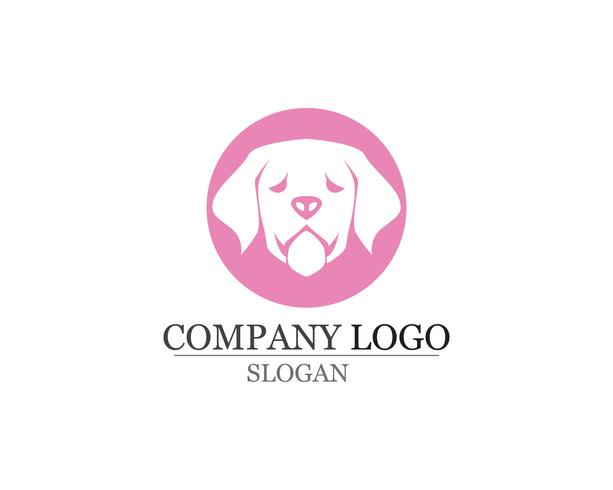 hund Kärlek symboler logotyper och symboler mall vektor