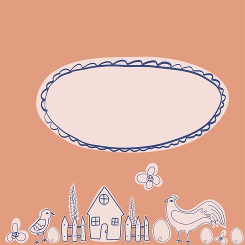 Glückliche Hennenzeichentrickfilm-figur in den verschiedenen Haltungen lokalisiert. Flache Illustration des Hennen- und Hahnvektors. Netter und lustiger bunter Satz vektor