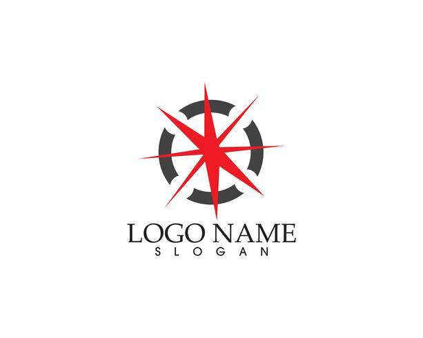 Vektor - Kompass tecken och symboler logotyp