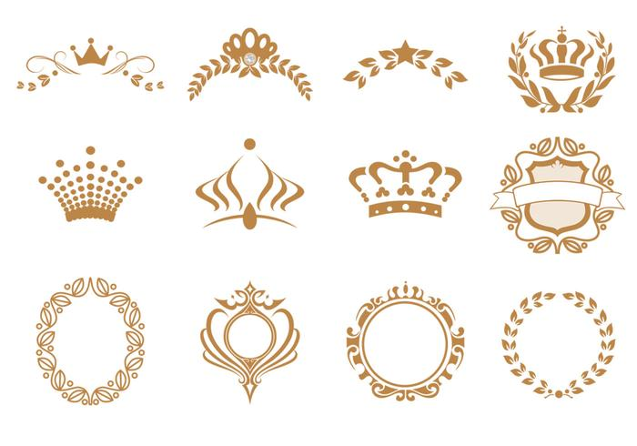 Crown Vector och Krans Vector Pack