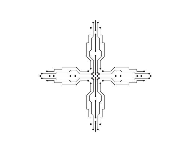 Stromkreisillustrationsdesignvektorsymbol-Logotechnologie vektor