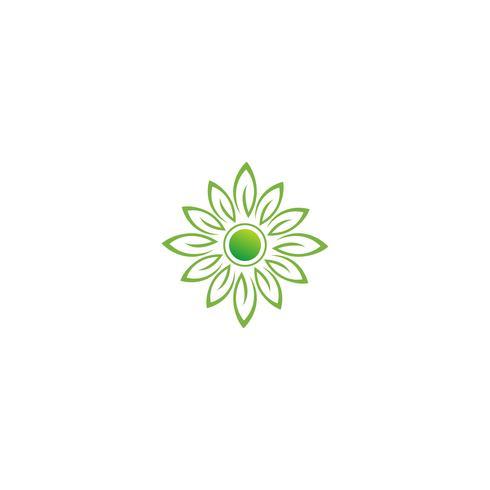 modeblomma kreativ logotyp mall vektorillustration ikonelement vektor