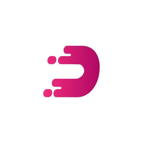 Buchstabe d kreative Logo Vorlage Vektor Illustrator