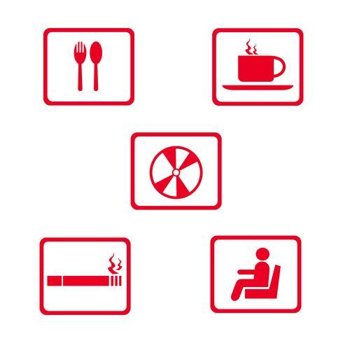 mat och dryck ikon logo design vektor illustration