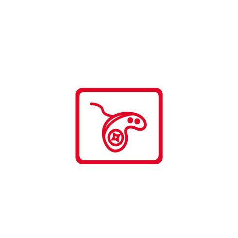 game pad controller logotyp mall vektor illustration ikon element