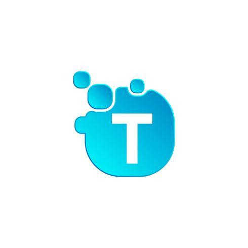 Brev t Bubble logotyp mall eller ikon vektor illustration