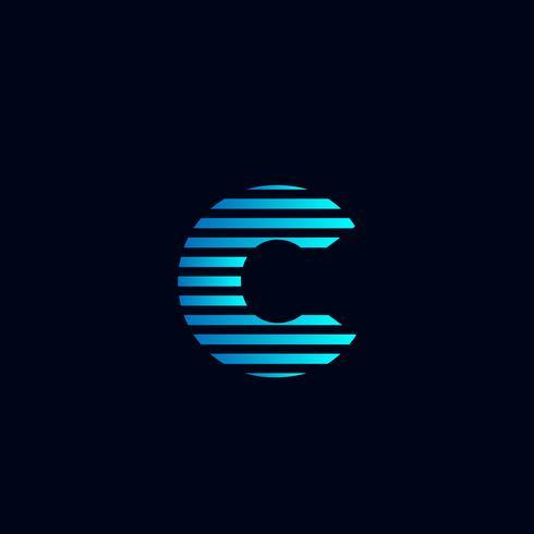 Buchstabe C Set Logo Vorlage Vektor Illustration gebrauchsfertig für Technologie