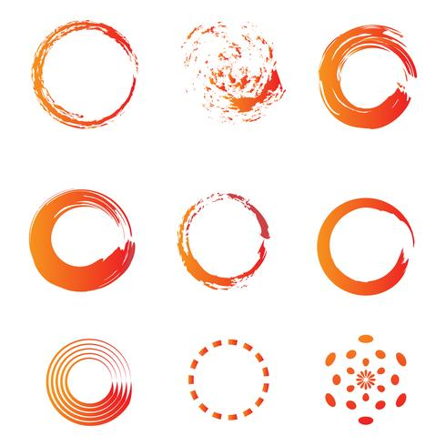 Kreis Pinsel Wasserfarbe Symbol Vorlage Vektor-Illustration vektor