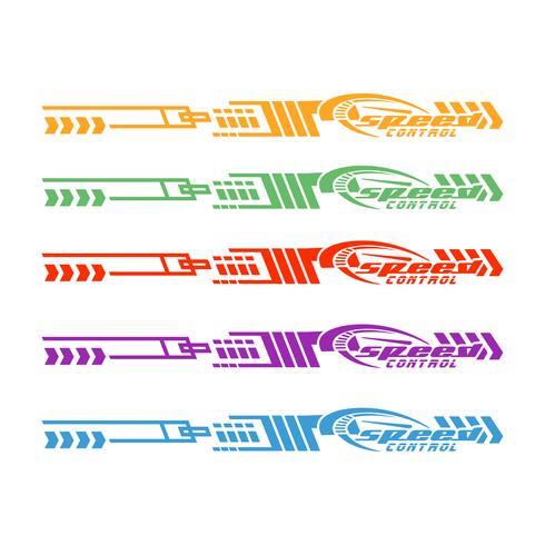 Bilcykelbil grafik, vinyl dekaler vektor illustration