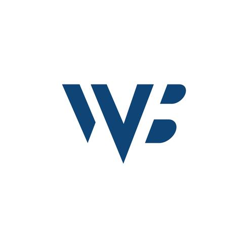 Logo Brief wb einfache Logo Vorlage Vektor-Illustration vektor