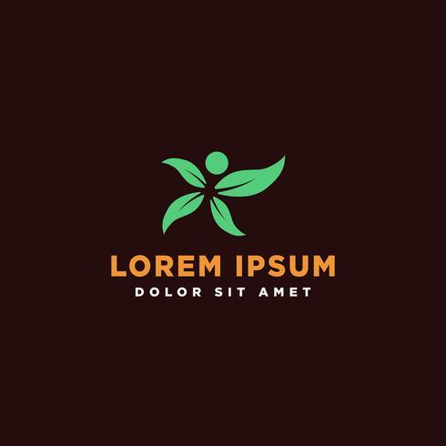 leaf green eco creative logo mall vektor illustration
