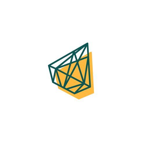 sten, diamant, pärla logotyp mall, ikon isolerade element vektor