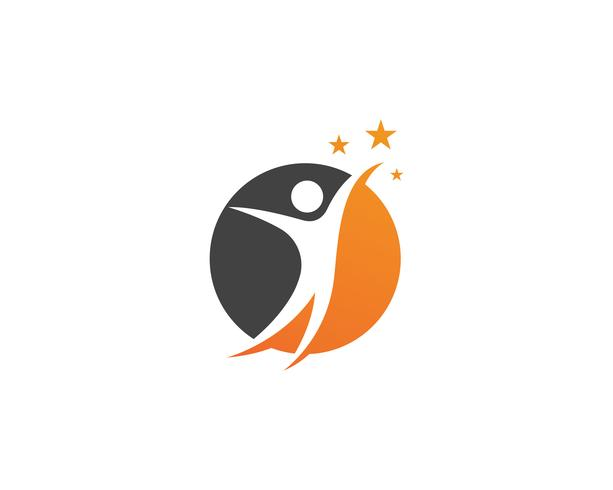 Gesundheitsleute interessieren sich Logo- und Symbolschablone vektor