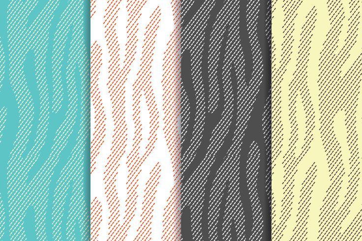 Nahtlose Vektormuster stellten mit Zebra, Tigerstreifen ein. Textil, das Tierpelzhintergründe wiederholt. Halbton streift endlose Hintergründe. Abstrakte Tierdrucke. vektor