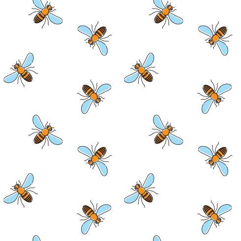 Nahtloses Muster des Bienenvektors für Textildesign, Tapete, Packpapier vektor