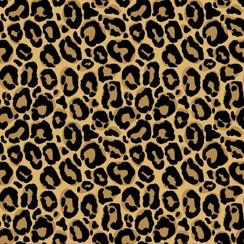 Nahtloses Muster des Vektors mit Leopardpelzbeschaffenheit. Wiederholen des Leopardpelzhintergrundes für Textildesign, Packpapier, Tapete oder das Scrapbooking. vektor