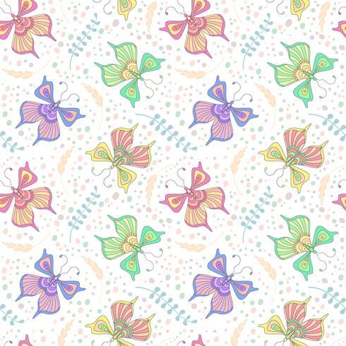 Fjärilar sömlösa mönster vektor