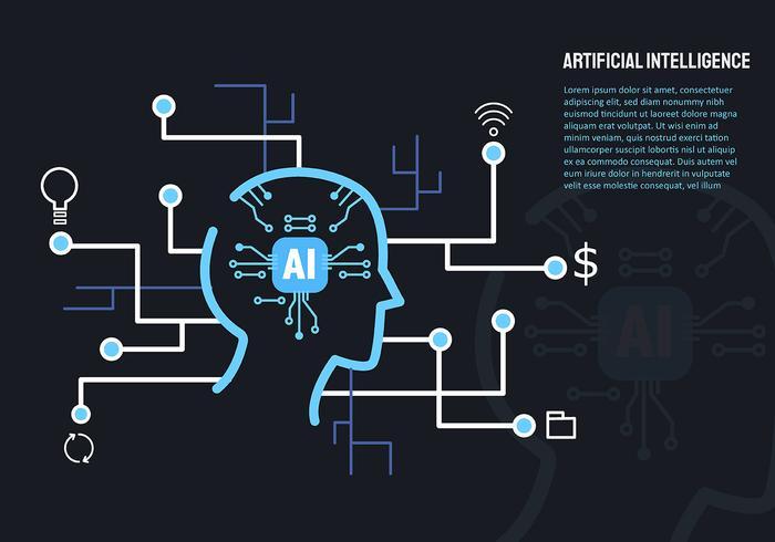 Künstliche Intelligenz und Laptop vektor