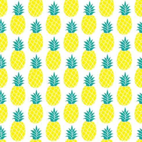 Nahtloses Muster der Ananas für das Scrapbooking, Textildesign, Packpapier vektor