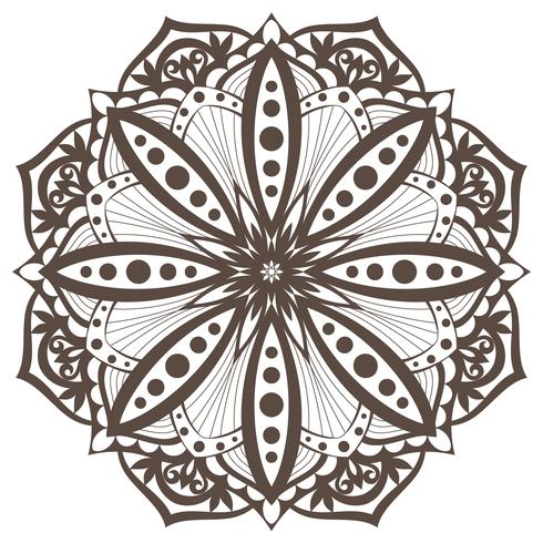 Vektor Mandala. Orientaliskt dekorativt element. Etniskt designelement.