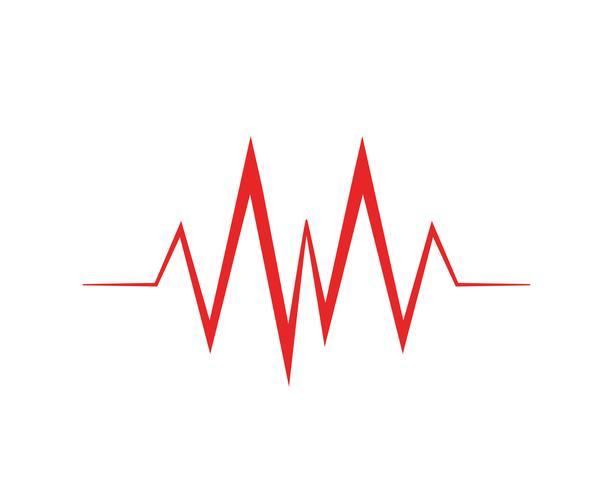 Medizinischer Herzschlagimpuls der Kunstdesign-Gesundheit vektor