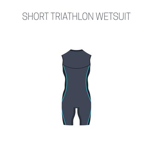Triathlon sleveless våtdräkt vektor