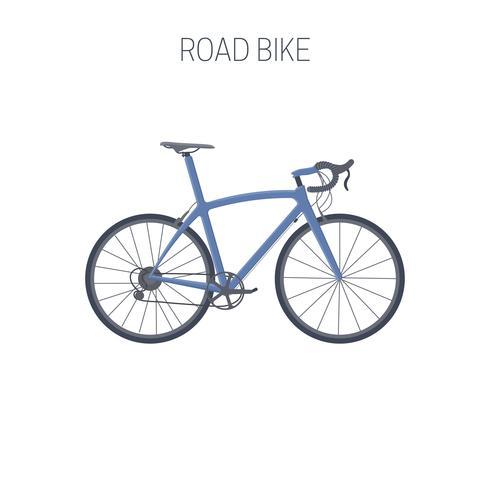 Vägcykel. Sport ikon. vektor