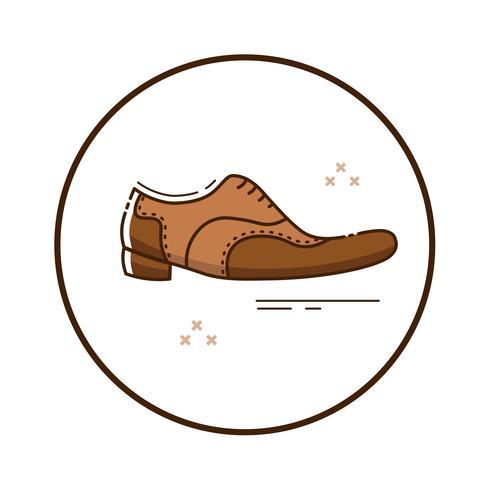 Line art mafia skor vektor