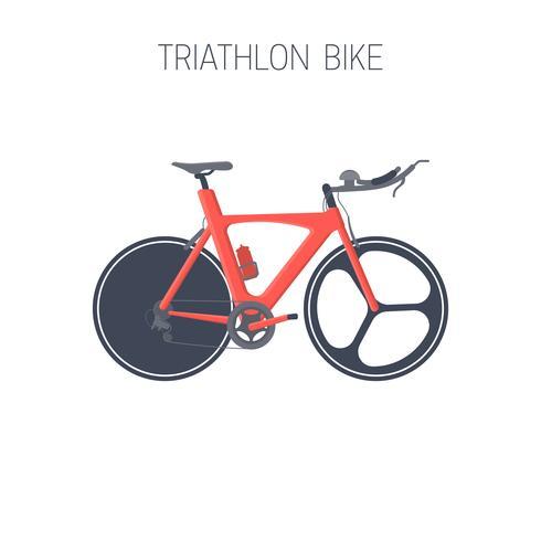 Triathlon-Fahrrad. Sport-Symbol. vektor