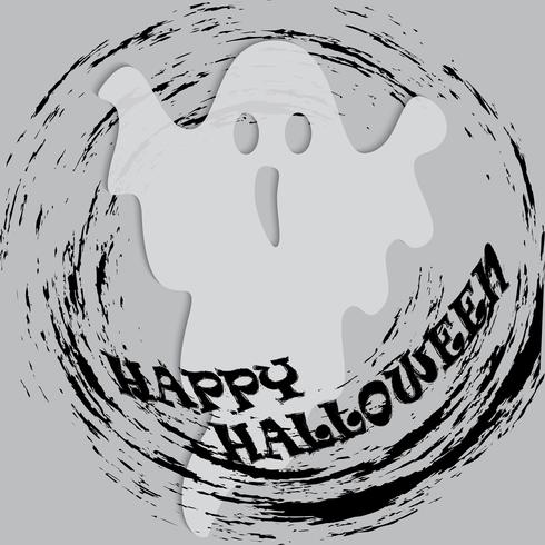 ENV. Geist der Halloween-Partei im weißen Blatt auf transparentem Hintergrund. Vektor-illustration vektor
