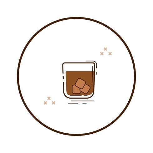 Linjekonstglas av whisky vektor