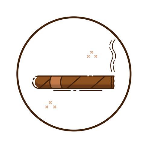 Linjekonst cigarr vektor