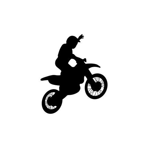 Freestyle-Motocross-Trick vektor