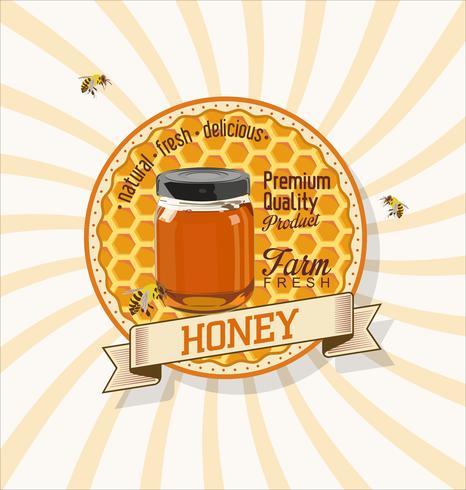 Honung retro vintage bakgrund vektor