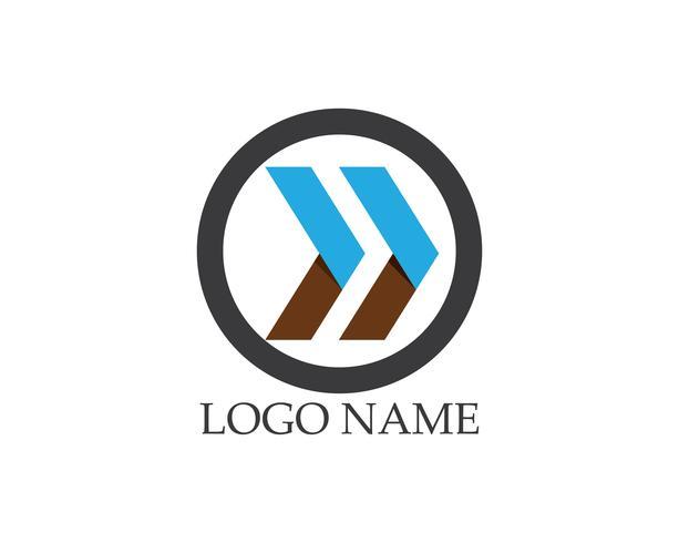 Business arrow logo vektor mall