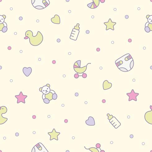 Babyleksaker sömlöst mönster. Kan användas för textilier, papper och annan design. vektor