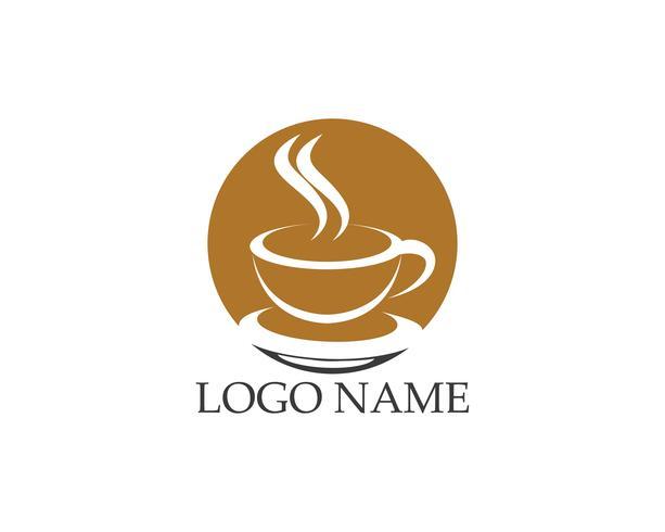 Kaffekopp ikonlogo vektor