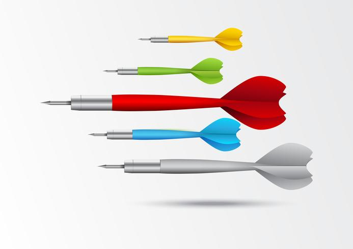 Färgglada dartbakgrund vektor