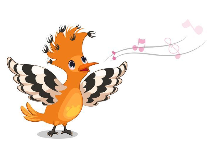 hoopoe fågel sång vektor