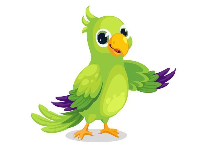 Papagei-Cartoon-Vektor vektor